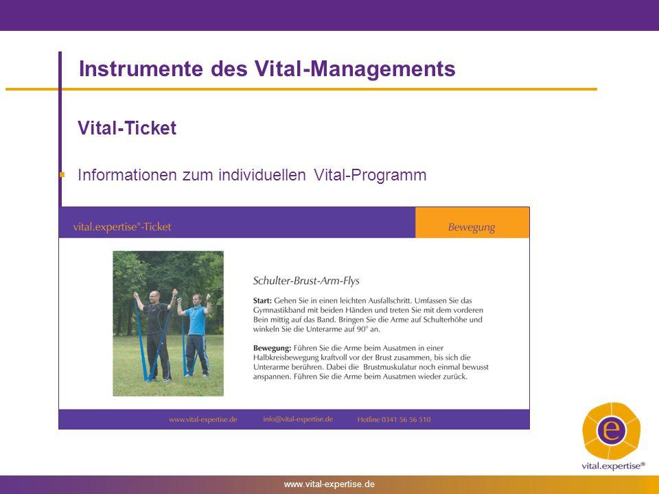 Instrumente des Vital-Managements