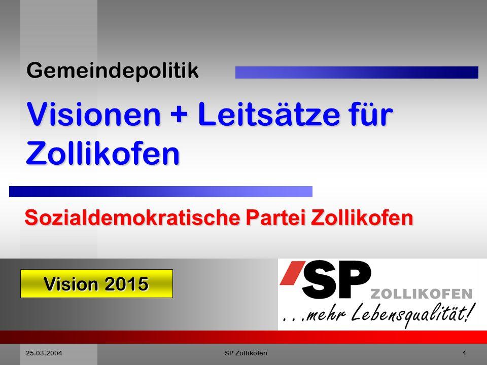 Gemeindepolitik Visionen + Leitsätze für Zollikofen