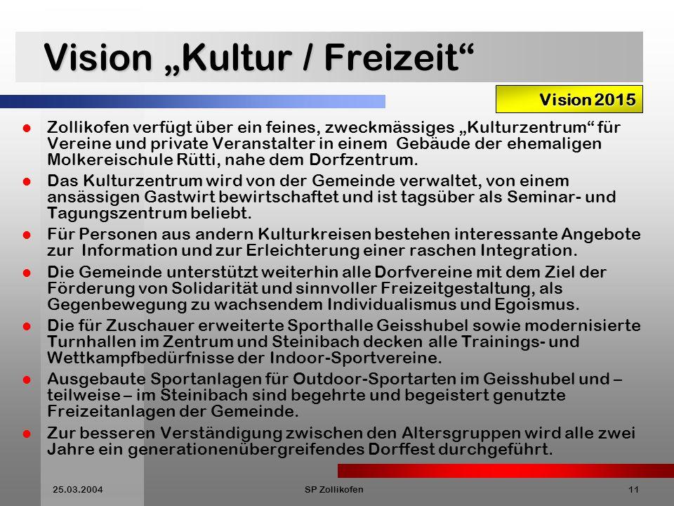 """Vision """"Kultur / Freizeit"""