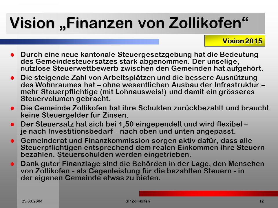 """Vision """"Finanzen von Zollikofen"""