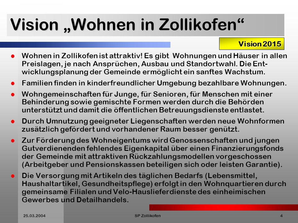 """Vision """"Wohnen in Zollikofen"""