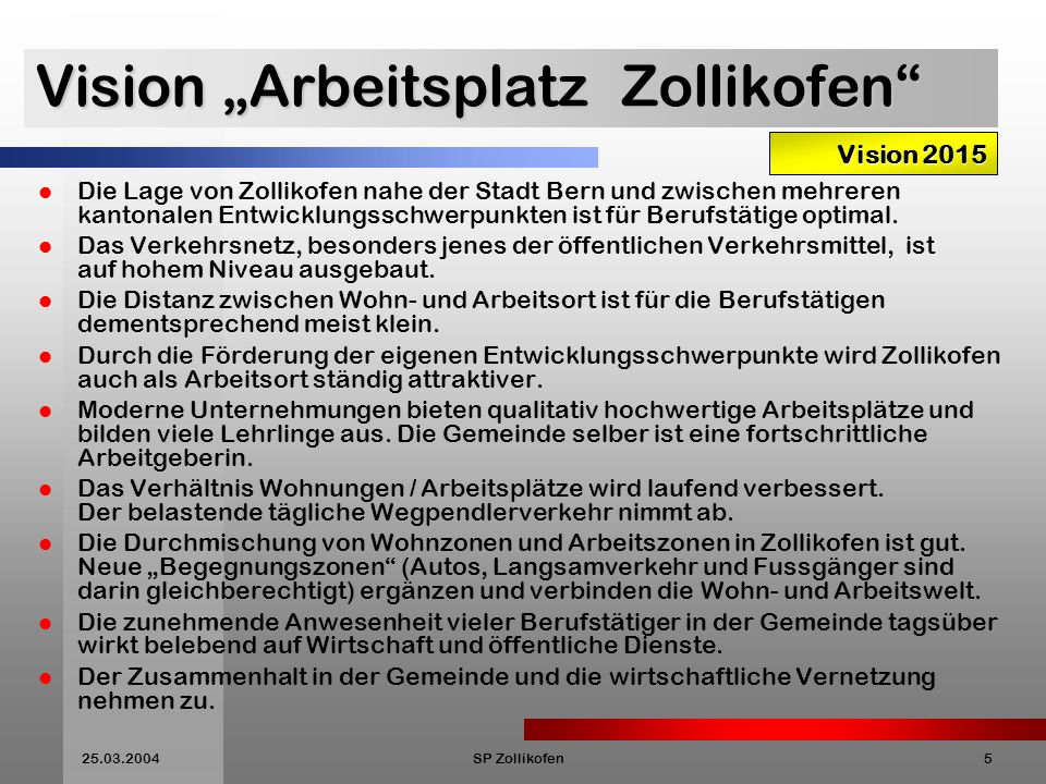 "Vision ""Arbeitsplatz Zollikofen"