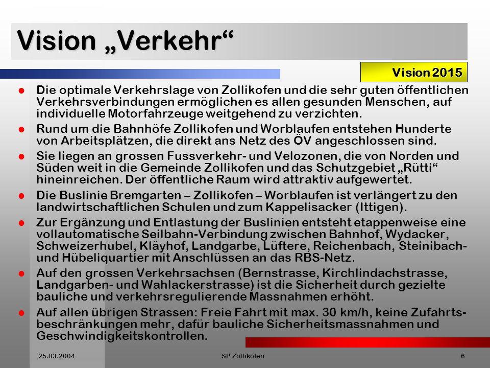 """Vision """"Verkehr Vision 2015"""
