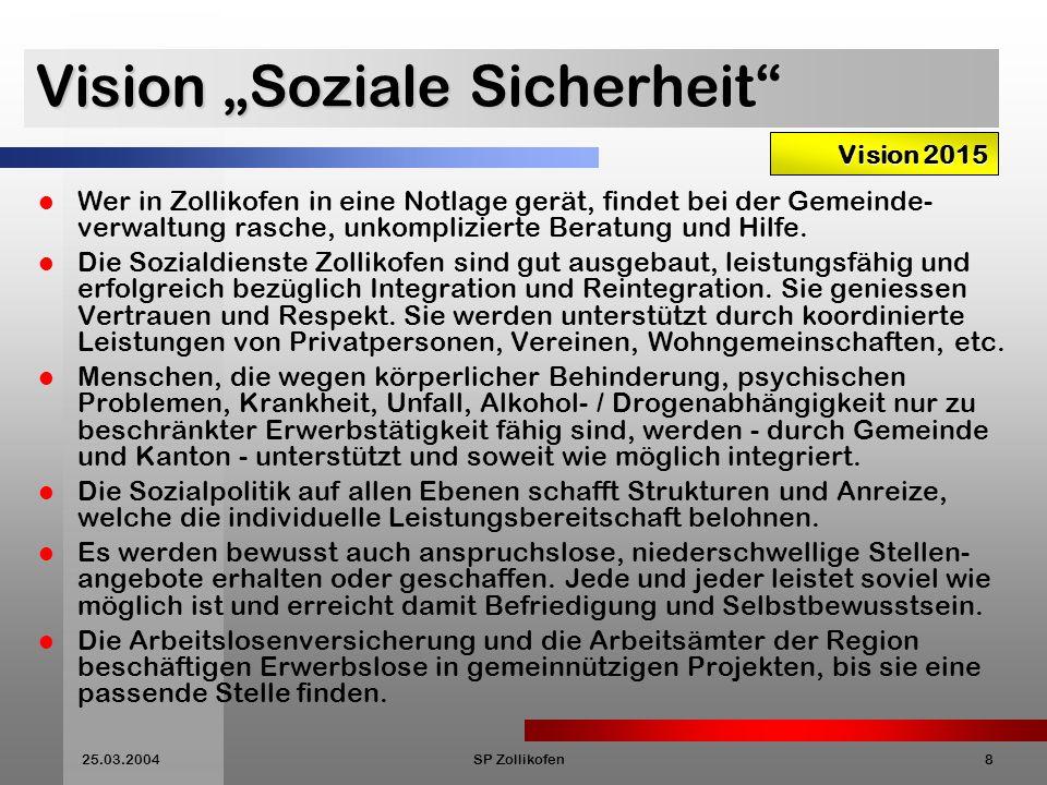 """Vision """"Soziale Sicherheit"""