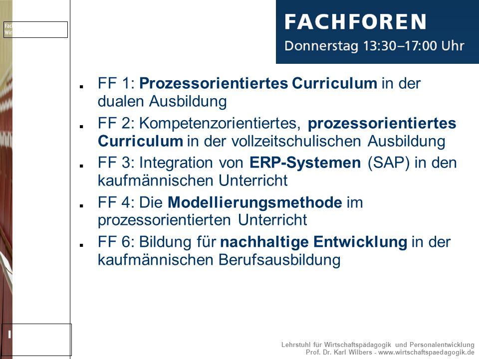 FF 1: Prozessorientiertes Curriculum in der dualen Ausbildung