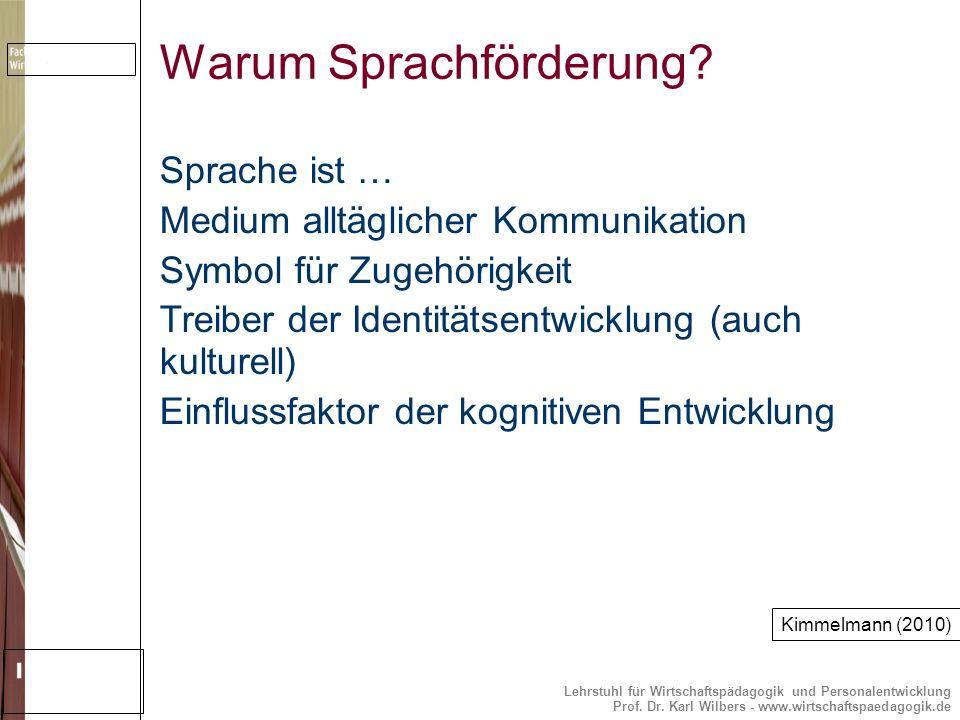Warum Sprachförderung