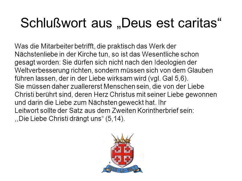 "Schlußwort aus ""Deus est caritas"