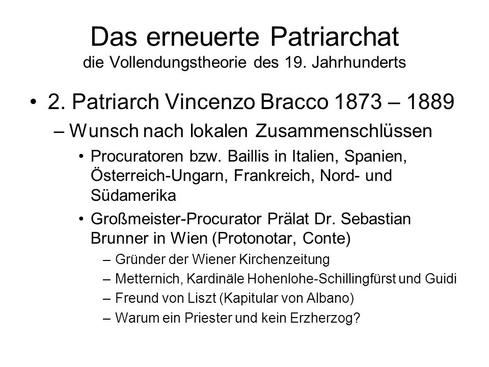 Das erneuerte Patriarchat die Vollendungstheorie des 19. Jahrhunderts