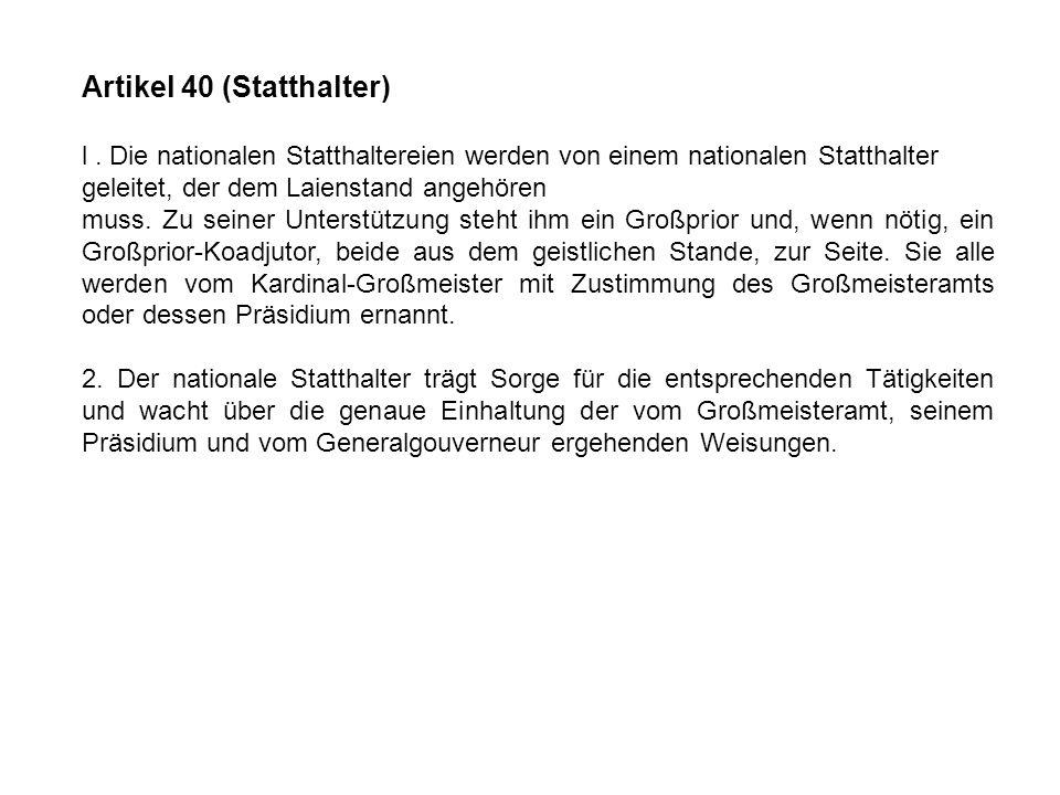 Artikel 40 (Statthalter)