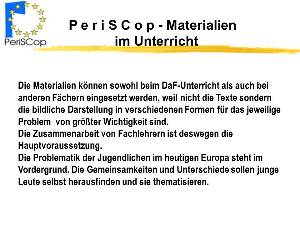 P e r i S C o p - Materialien im Unterricht