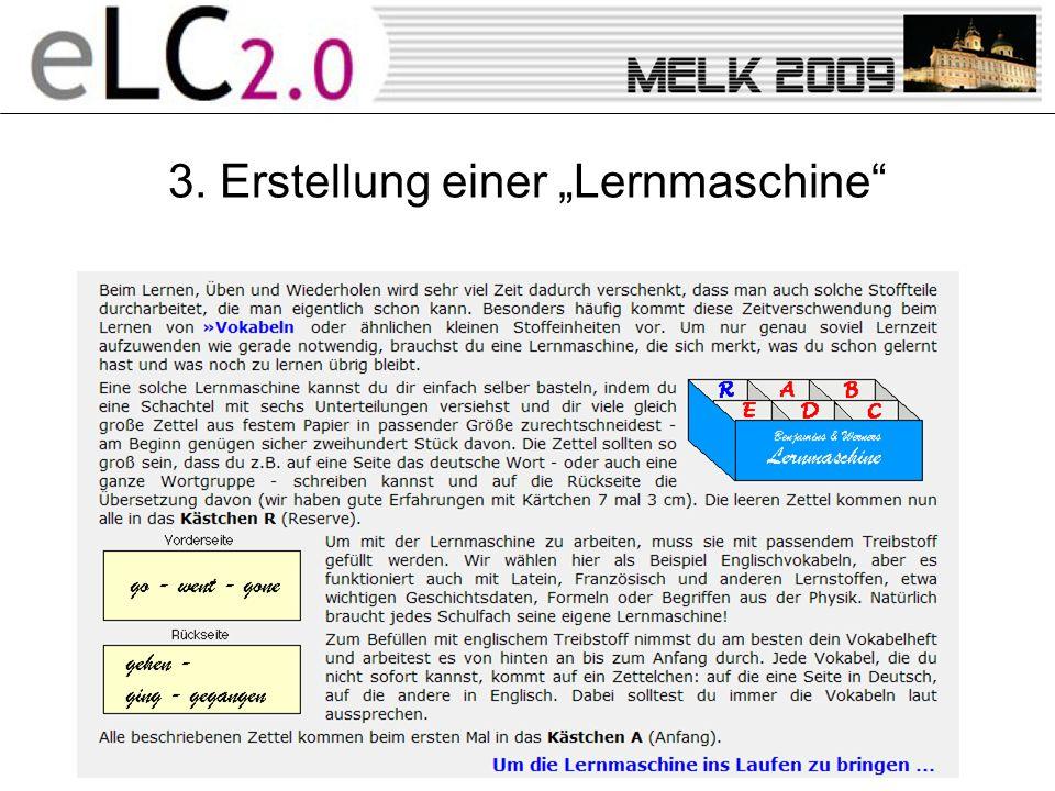 """3. Erstellung einer """"Lernmaschine"""