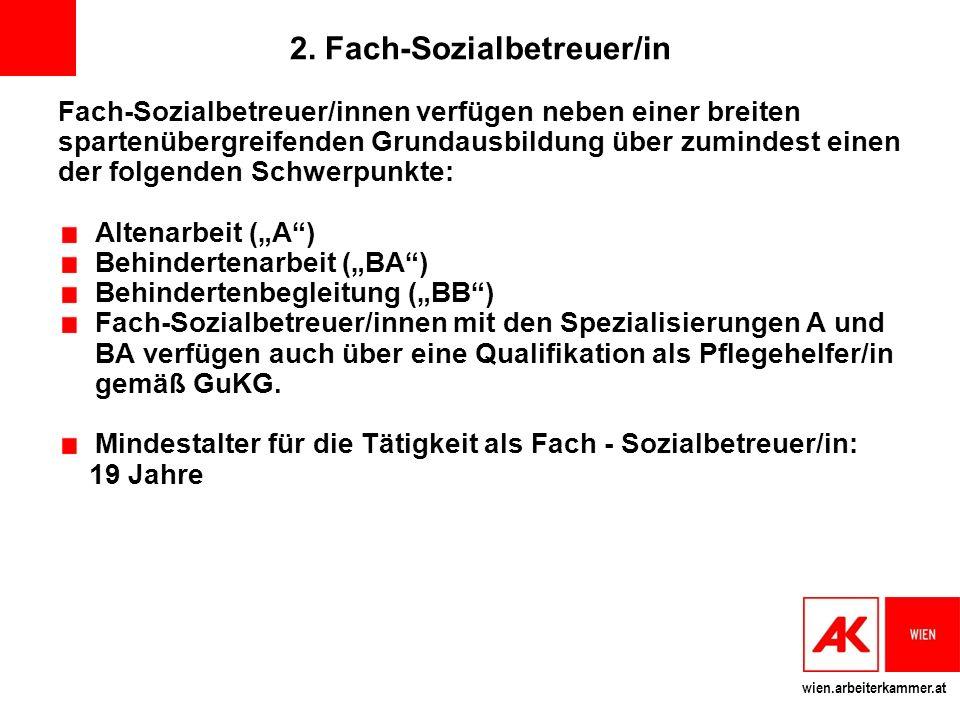 2. Fach-Sozialbetreuer/in