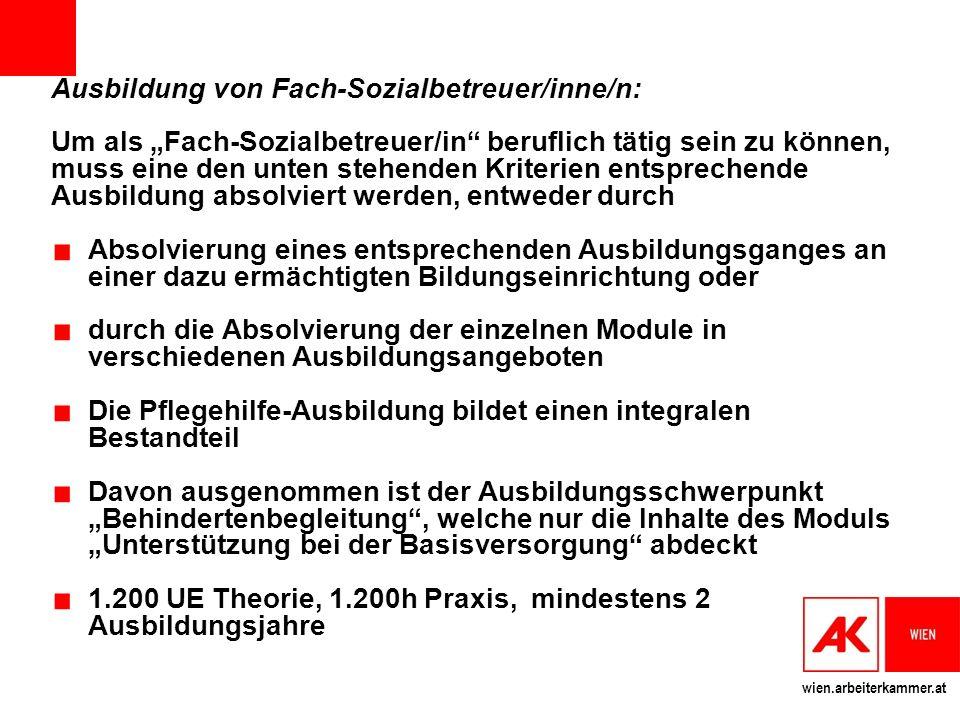 Ausbildung von Fach-Sozialbetreuer/inne/n: