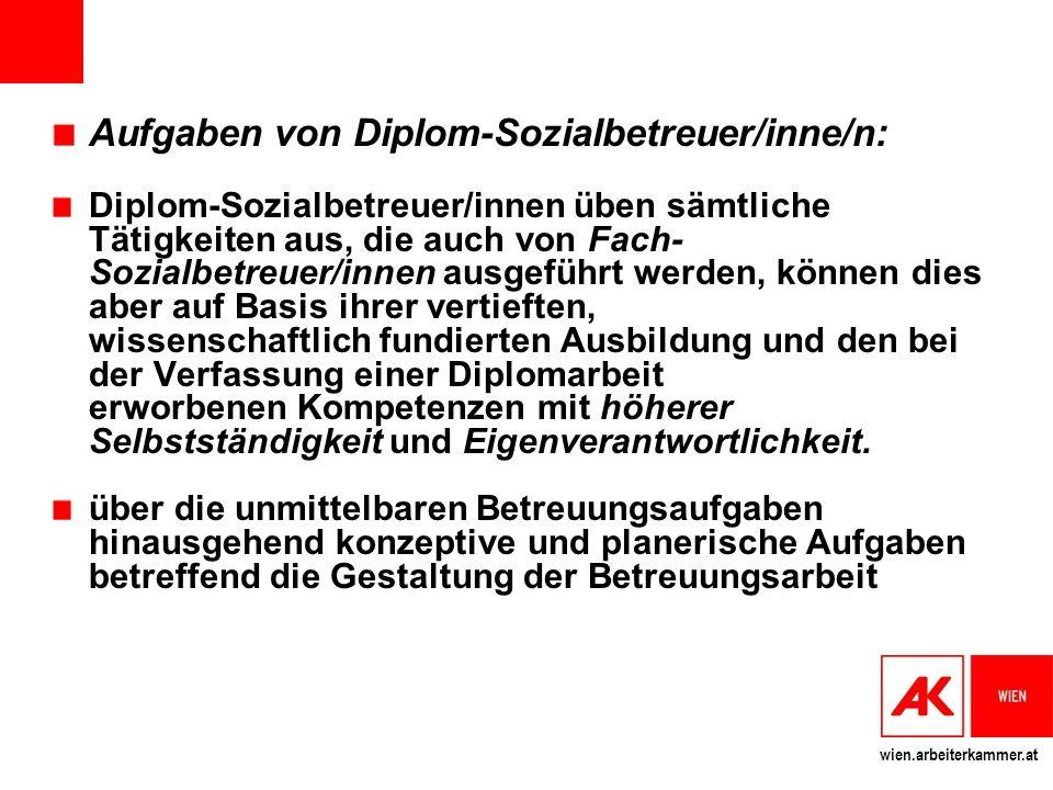 Aufgaben von Diplom-Sozialbetreuer/inne/n: