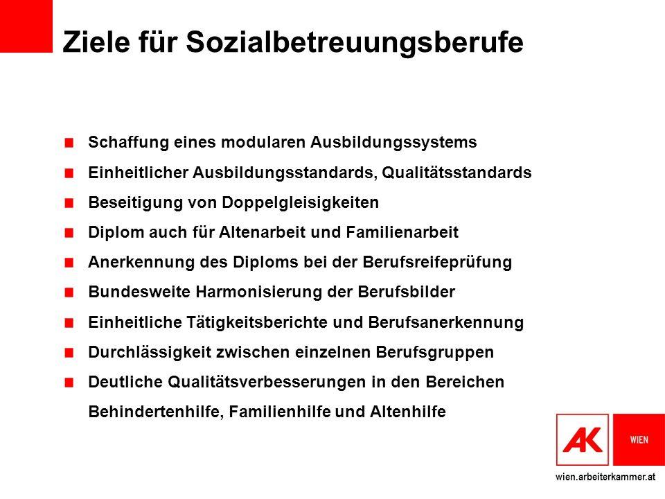 Ziele für Sozialbetreuungsberufe
