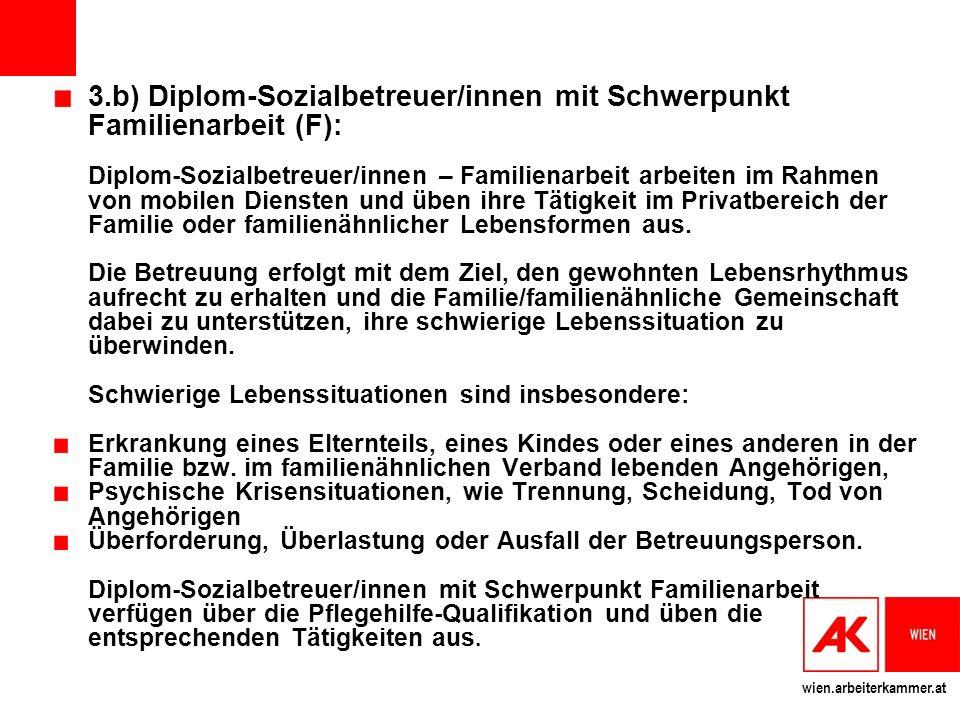 3.b) Diplom-Sozialbetreuer/innen mit Schwerpunkt Familienarbeit (F):