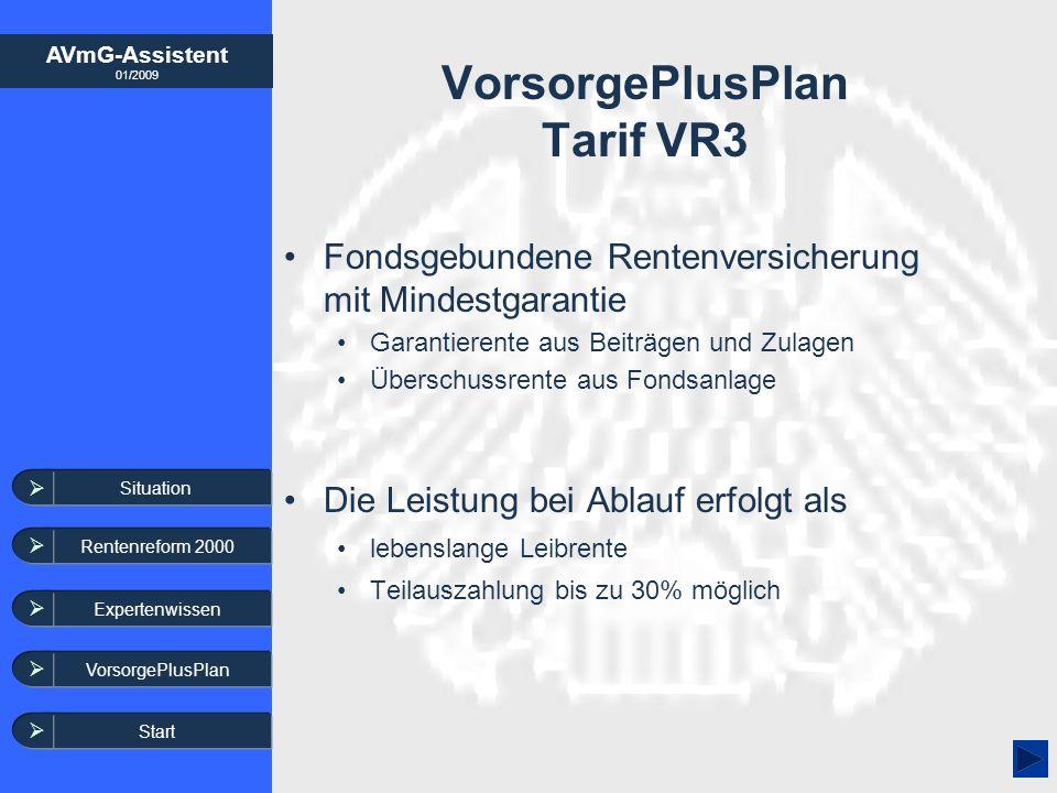 VorsorgePlusPlan Tarif VR3
