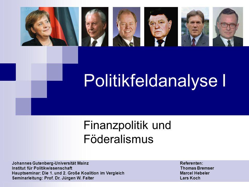 Finanzpolitik und Föderalismus