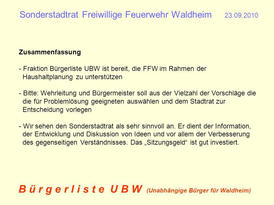 Sonderstadtrat Freiwillige Feuerwehr Waldheim 23.09.2010