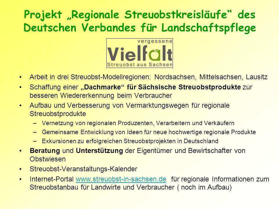 """Projekt """"Regionale Streuobstkreisläufe des Deutschen Verbandes für Landschaftspflege"""