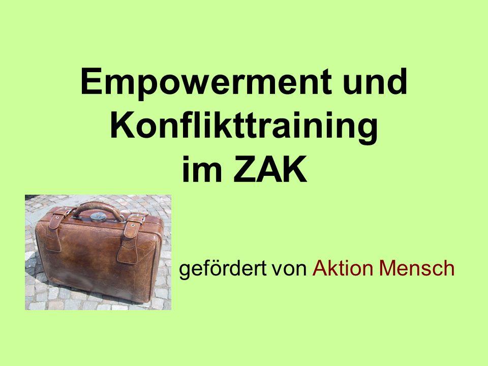 Empowerment und Konflikttraining im ZAK