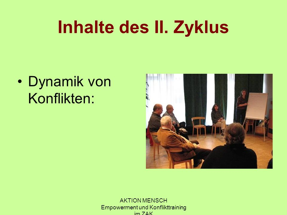 AKTION MENSCH Empowerment und Konflikttraining im ZAK