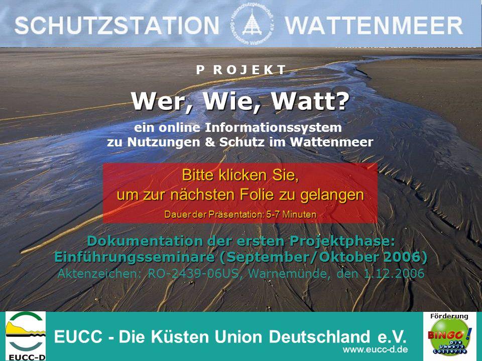 Wer, Wie, Watt EUCC - Die Küsten Union Deutschland e.V.