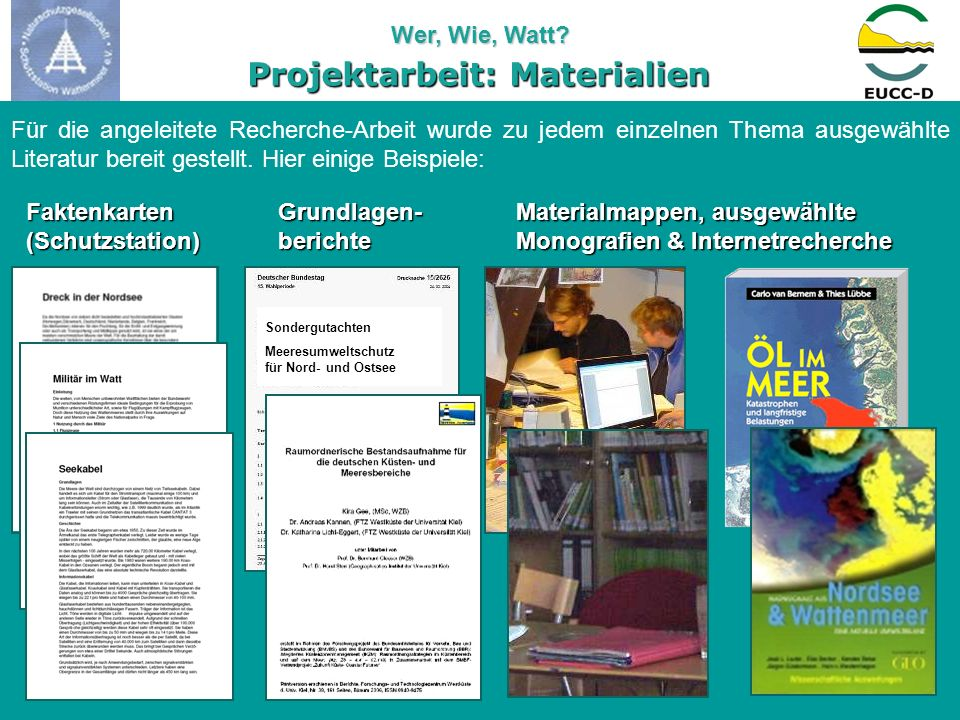 Projektarbeit: Materialien