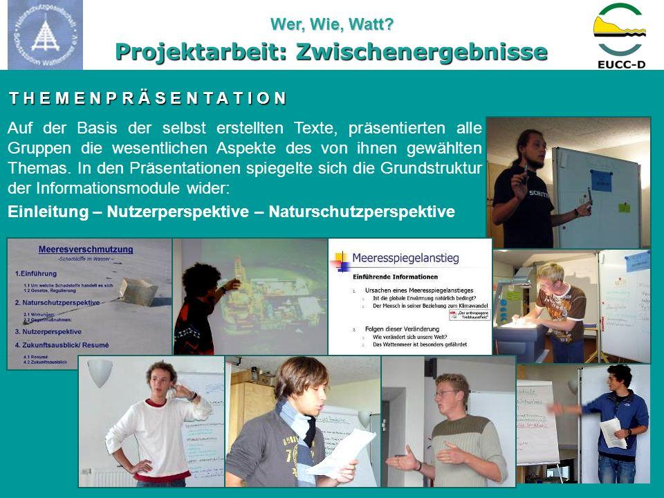 Projektarbeit: Zwischenergebnisse Powerpoint-Präsentationen