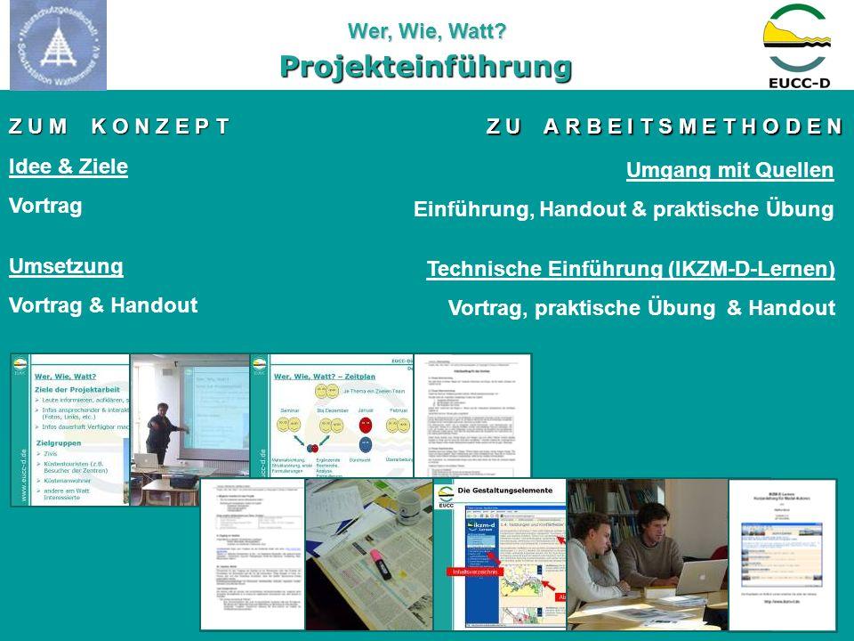 Projekteinführung Z U M K O N Z E P T