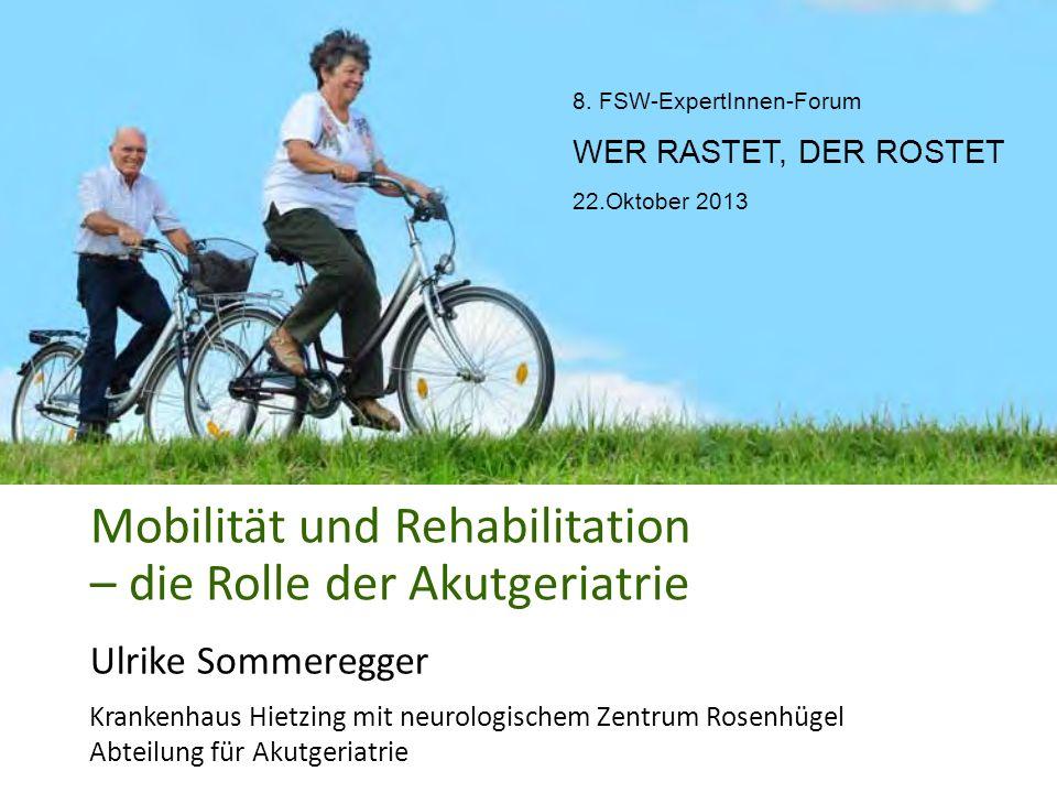Mobilität und Rehabilitation – die Rolle der Akutgeriatrie