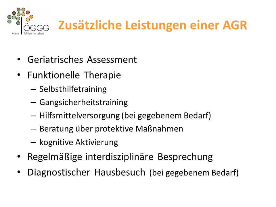 Zusätzliche Leistungen einer AGR