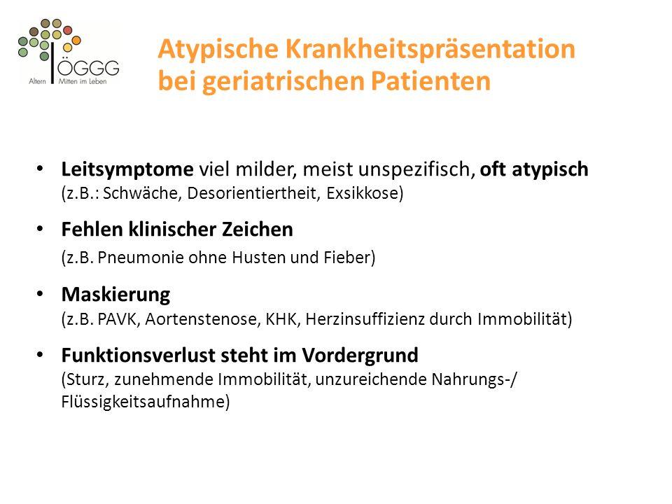 Atypische Krankheitspräsentation bei geriatrischen Patienten