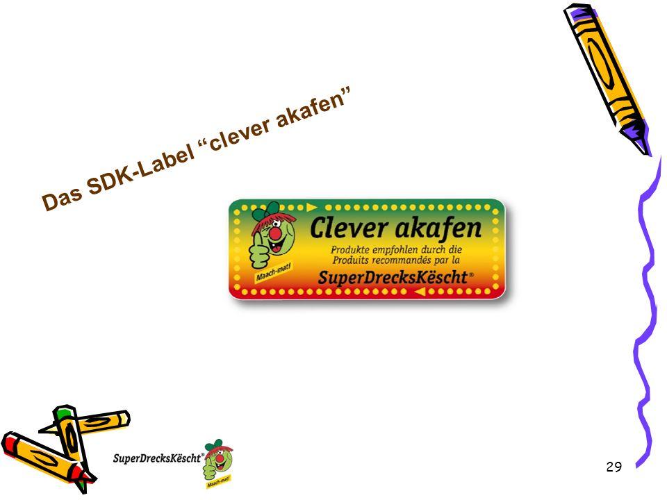 Das SDK-Label clever akafen