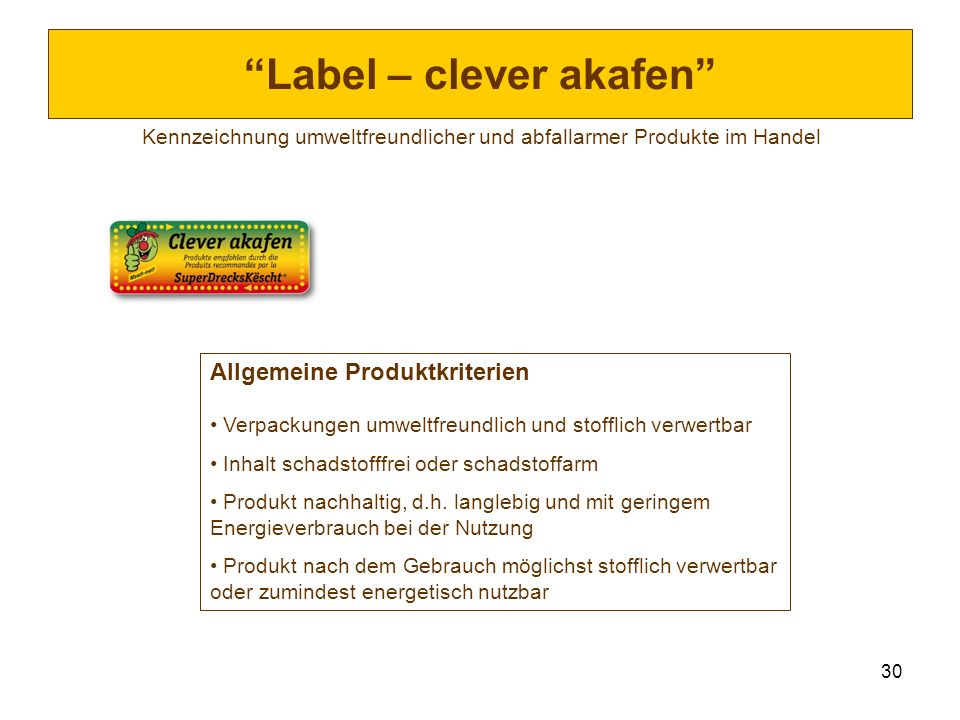 Label – clever akafen