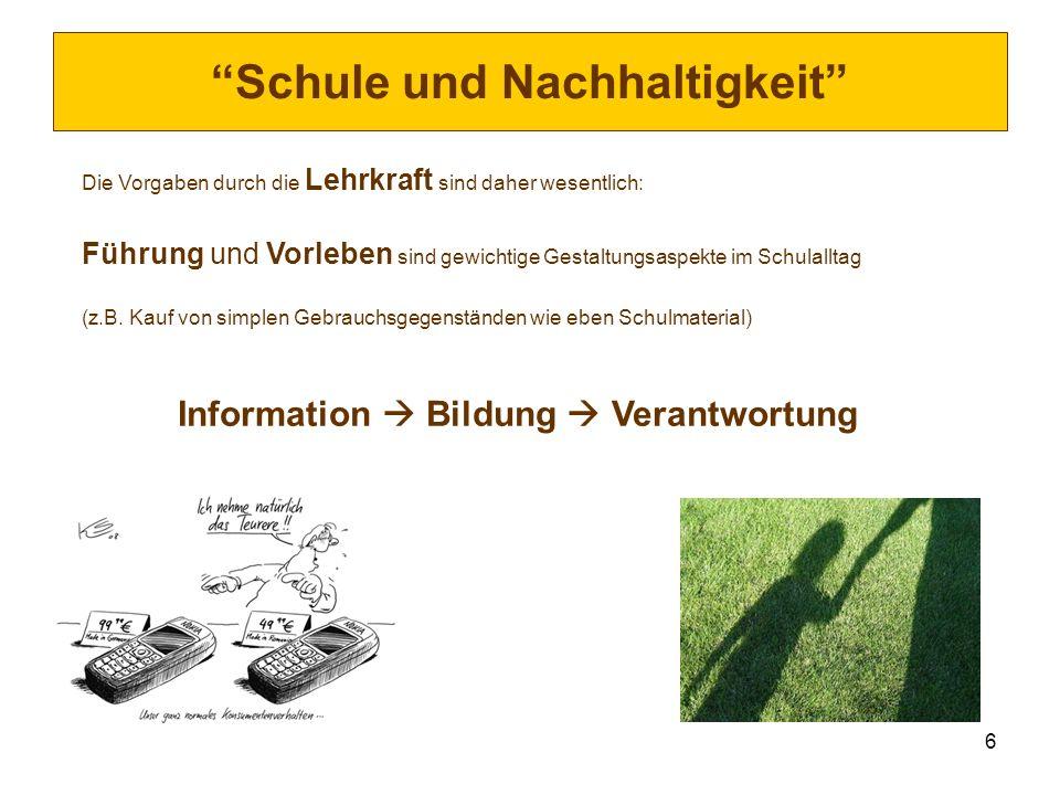 Schule und Nachhaltigkeit