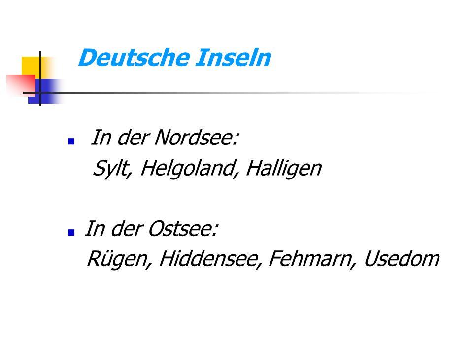 Deutsche Inseln In der Nordsee: Sylt, Helgoland, Halligen