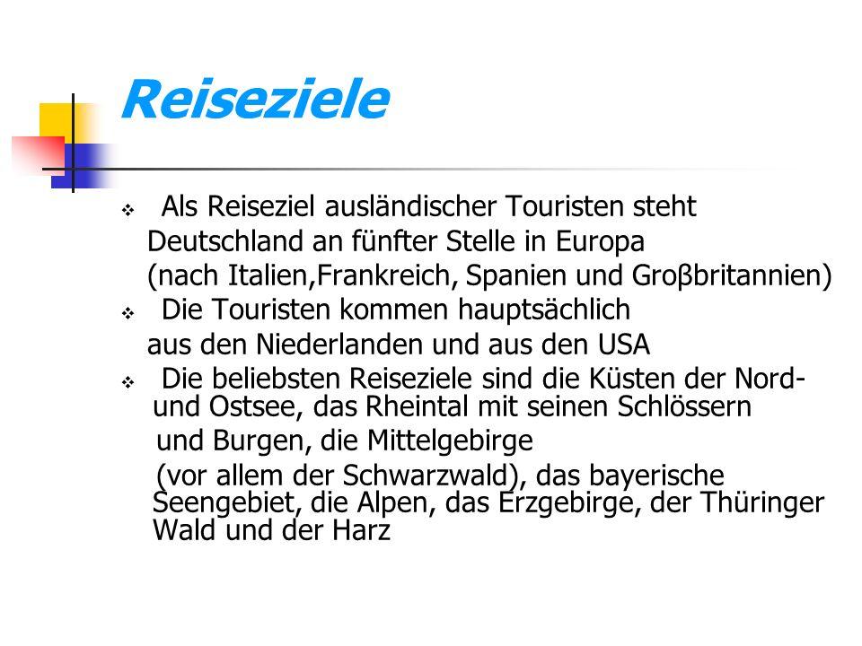 Reiseziele Als Reiseziel ausländischer Touristen steht