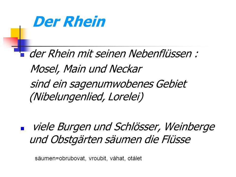 Der Rhein der Rhein mit seinen Nebenflüssen : Mosel, Main und Neckar