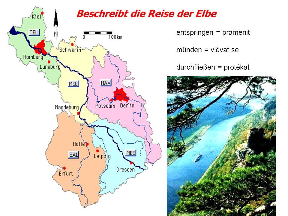 Beschreibt die Reise der Elbe