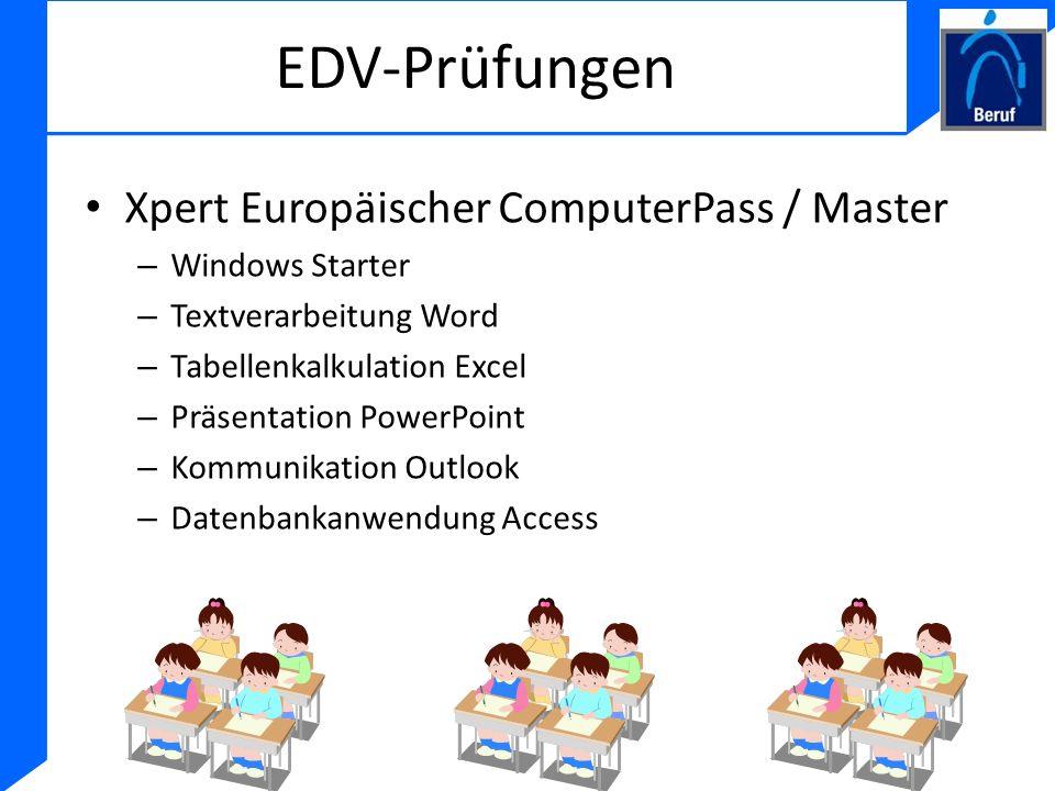 EDV-Prüfungen Xpert Europäischer ComputerPass / Master Windows Starter