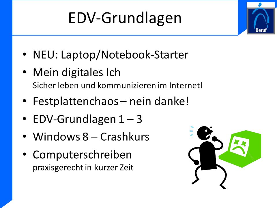 EDV-Grundlagen NEU: Laptop/Notebook-Starter