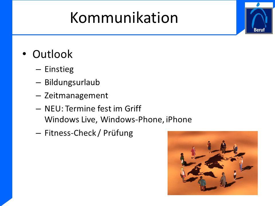 Kommunikation Outlook Einstieg Bildungsurlaub Zeitmanagement