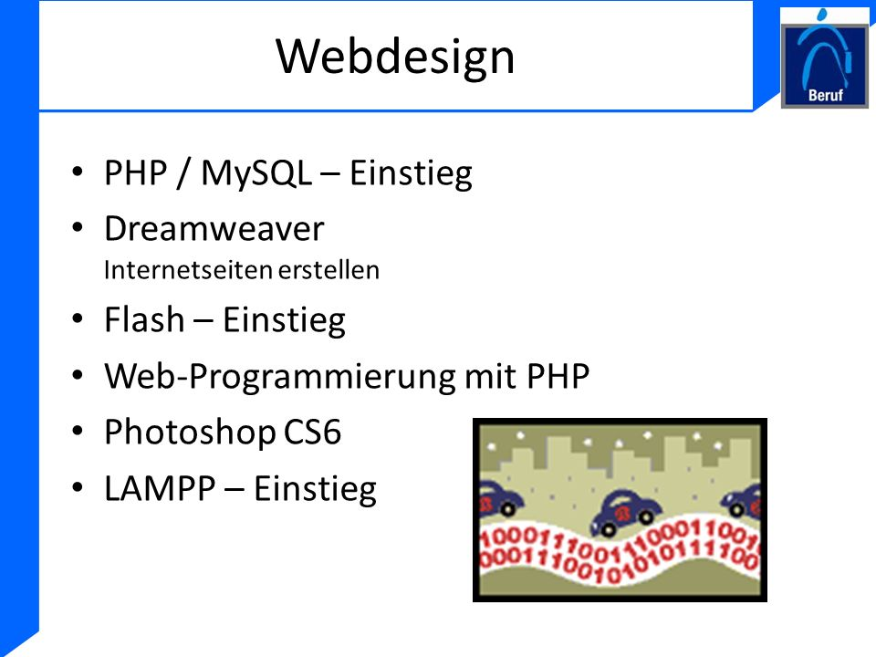 Webdesign PHP / MySQL – Einstieg Dreamweaver Internetseiten erstellen