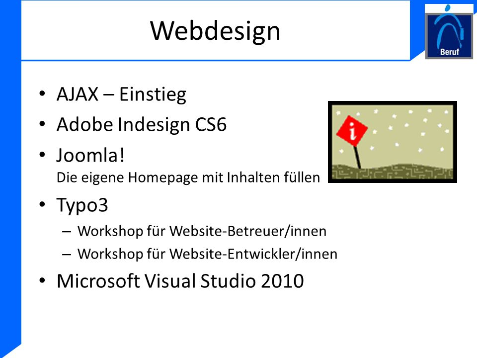 Webdesign AJAX – Einstieg Adobe Indesign CS6