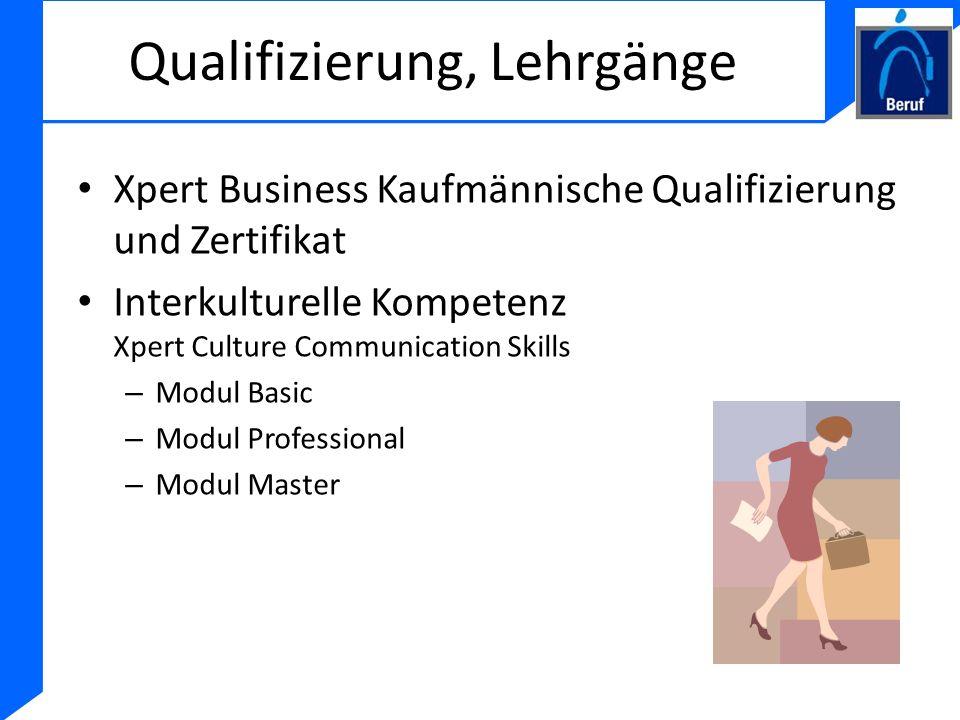 Qualifizierung, Lehrgänge