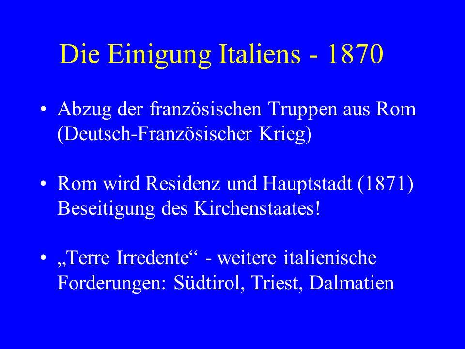 Die Einigung Italiens - 1870