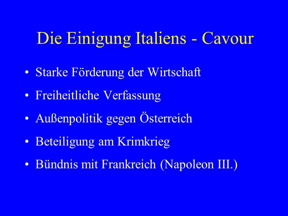 Die Einigung Italiens - Cavour