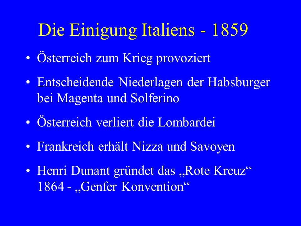 Die Einigung Italiens - 1859
