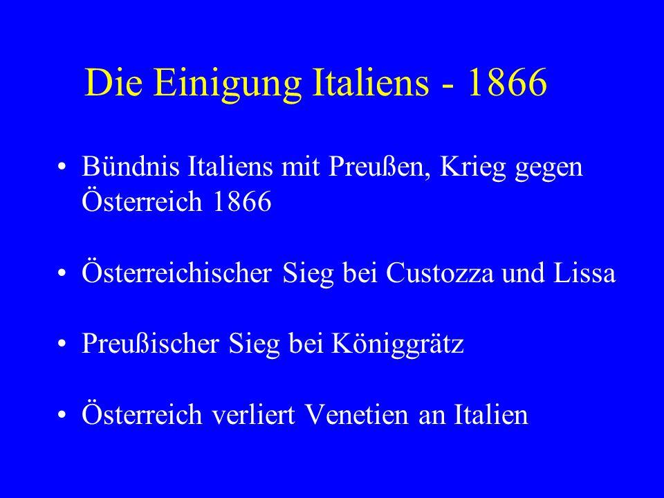 Die Einigung Italiens - 1866
